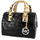 MICHAEL KORS Grayson Metallic Satchel Womens Handbag