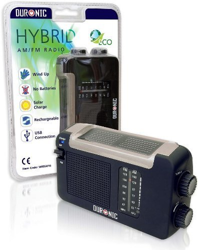 Duronic Hybrid Radio - Wind-Up, Tragbares, Solar