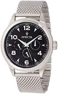 Invicta Men's 12204 Vintage Black Dial Stainless Steel Watch