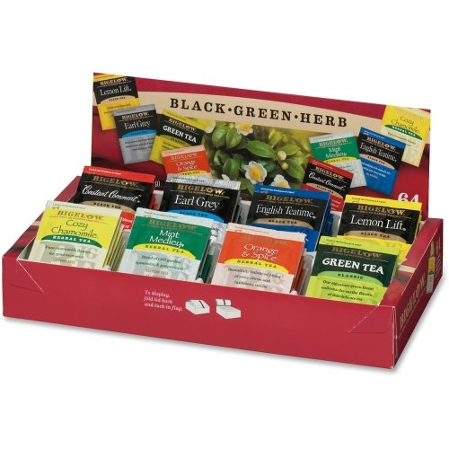 Bigelow Tea Fine Tea And Herb Tea Gift - Black Tea, Green Tea - Assorted - 64 / Box