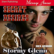 Secret Desires: Tri-Omega Mates, Book 1 (       UNABRIDGED) by Stormy Glenn Narrated by Andrew McFerrin