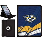 Nashville Predators® - Home Jersey design on a Black 2nd-4th Generation iPad Swivel Stand Case by Coveroo at Amazon.com
