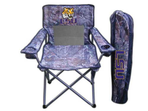 NCAA LSU Tigers Realtree Camo Folding Chair