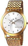 Spyn Exclusive Super Slim golden casual wrist watch for Men