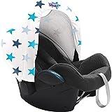 Ion de litio de repuesto diseño de palabra en inglés sudadera con capucha de para el coche asiento para carrito de bolsa almohadilla de silla de montar de color azul galletas con forma de estrella