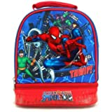 Marvel Spiderman Double Compartment Insulated Lunch Tote - Spidy Vs. Doc Oct