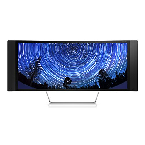 HP Envy 34c (K1U85AA) Curved Media Monitor 86,36 cm (34 Zoll) (HDMI, USB, 8ms Reaktionszeit, 4K Wide Quad HD, MHL, DisplayPort, gebogener Bildschirm)