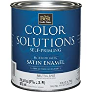 Color Solutions Self-Priming Latex Satin Interior Wall Paint-INT SAT NEUTRAL BS