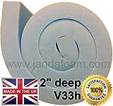 "High density firm upholstery foam 60x20x2"""