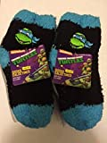 Childrens Boys/Girls 6-Pack Softee Fuzzy Socks Licensed by Disney, Sesame Street, Nickelodeon & more characters (2T-4T, Ninja Turtles)