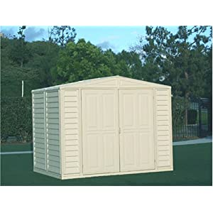 Click to buy DuraMax Model 8x6 DuraMate Vinyl Storage Shed from Amazon!