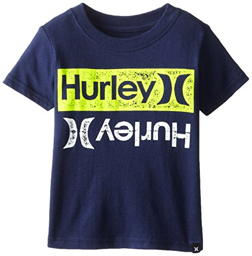 Hurley Baby-Boys Infant Mirror Tee, Midnight Navy, 24 Months front-942319