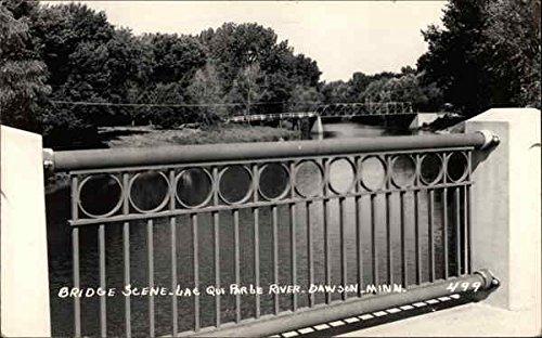 bridge-scene-lac-qui-parle-river-dawson-minnesota-original-vintage-postcard
