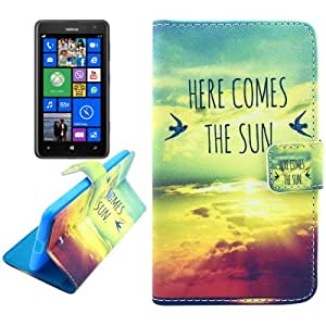Aesthetic Patterns Leather Case with Credit Card Slots & Holder for Nokia Lumia 625
