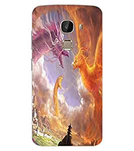 ColourCraft Dragon Fight Design Back Case Cover for LeEco Le 2 Pro