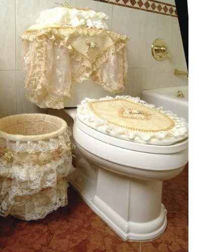 Luxurious and elegant eden lace style bathroom waste for Covered bathroom wastebasket