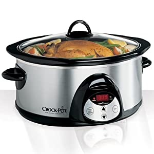 Crock-Pot SCVC609SS 6-Quart Oval Programmable Slow Cooker, Stainless Steel