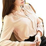 (ドリームスプリングス)DreamSprings2色で選べるカラー きれいめ ノーカラー シャツ ブラウス vネック とろみ生地 レディース オフィス 仕事 エレガント プルオーバータイプ
