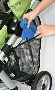J.L. Childress Side Sling Stroller Cargo Net, Black