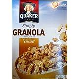 Quaker, Simply Granola, Oats Honey Raisins & Almonds Cereal, 28oz Box (Pack Of 4)