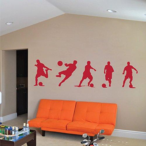 Footballeurs-Sticker-mural-en-vinyle-Chambre-de-Garon