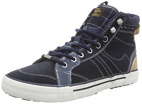 Pepe Jeans STUART BOOT, Sneaker alta uomo, Blu (Blau (585MARINE)), 44