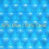16 ft x 32 ft Rectangular Solar Cover-Blue Clear 12ML