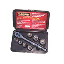 Grip-Tite 00110  7-Piece Super Socket Set, Rounded Bolt Remover, with Ratchet
