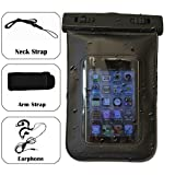 QQ-Tech-« Audio Waterproof Case Bag for iPhone with Built in Headphone Adapter, Waterproof Earphones, Removable Strap Armband