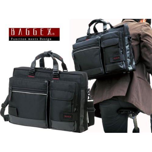 (バジェックス) BAGGEX 3WAY ビジネスバッグ メンズ 23-5514 ブラック