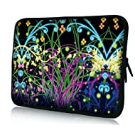10 Inch Avatar Dreamland Colorful Bright Flowers and Swirls DOUBLE Sided Print Design Laptop Slipcase Cover Netbook...