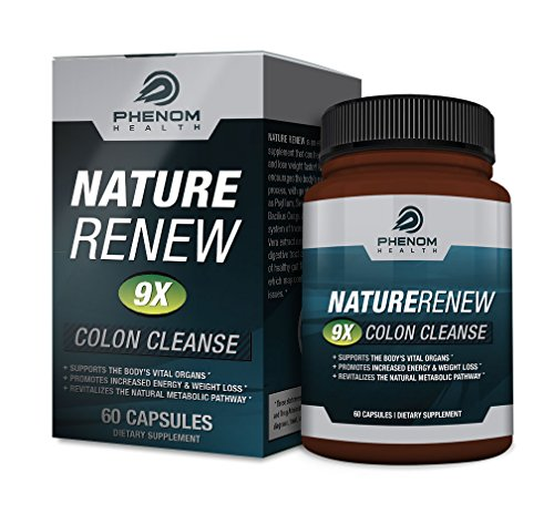 Nature Renew Colon Cleanse Detoxifaction Supplement - 60 High Potency Capsules - 100% Natural Formula (Nature Renew Cleanse compare prices)