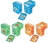 Set of 3 New Ultra-Pro XY Pokemon Deck Boxes incl. Froakie (Blue), Fennekin (Red), and Chespin (Green) from Kalos Region