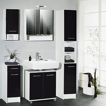 badezimmer set 5 tlg laureen anthrazit glanz k che haushalt feiwvfa. Black Bedroom Furniture Sets. Home Design Ideas