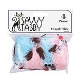 Savvy Tabby US1394 06 6-Pack Jewel Mice Lattice Balls Cat Toy