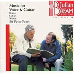 Julian Bream Edition, Volume 18: Music for Voice & Guitar - Britten, Seiber, Walton
