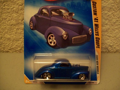 Hot Wheels 2009 New Models Blue Custom 41 Willy's Coupe 1:64 Scale
