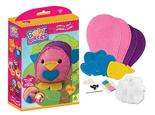 The Orb Factory Sew Softies Bird Building Kit