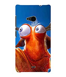 Fuson 3D Printed Funky Designer Back Case Cover for Microsoft Lumia 535 - D1110
