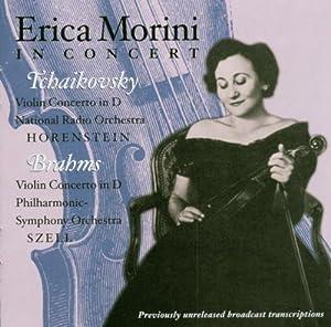 エリカ・モリーニ(Vn)1チャイコフスキー:ヴァイオリン協奏曲ニ長調2ブラームス:ヴァイオリン協奏曲ニ長調