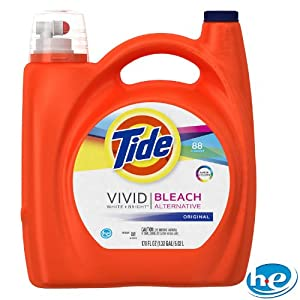 Tide HE plus Bleach Liquid Laundry Detergent, Original - 170 oz.