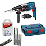 Bosch Hammer Drill GBH 2-28 DFV + MAKITA SDS-Plus Nemesis Drill Set, 5 Piece L-Boxx