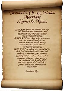 Wedding Gift For Christian Friend : Beatitudes Of A Christian Marriage Personalised Friend Gift Poem ...