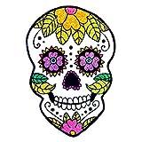 Sugar Skull Temporary Tattoos, 10 Sparkle Sugar Skull tattoos, 10 sheets, each sheet 3.5
