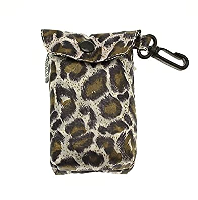 Fold Up Animal Print Shopping Bag With Clip On Pouch - The handy bag! (C Brown/white)