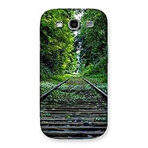 Premium Beautiful Track Green Back Case Cover for Galaxy S3 Neo