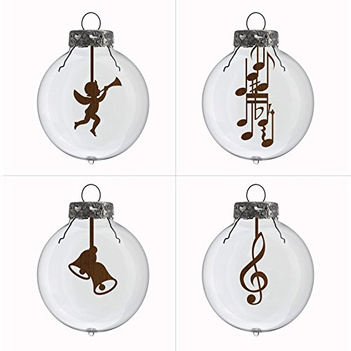 4er-Set-Weihnachtskugeln-Musik-Schnes-Geschenk-fr-Musiker