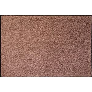 Mercury Flooring - Tapis Wash & Clean 60X80 - Couleur : Brun