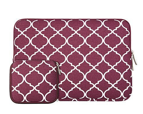 mosiso-laptop-sleeve-quatrefoil-moroccan-trellis-canvas-fabric-case-cover-bag-for-11-116-inch-laptop