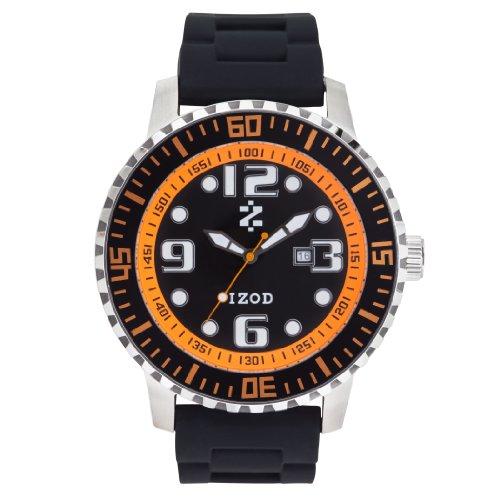 IZOD Men's IZS4/3 BLK/ORANGE Sport Quartz 3 Hand Watch